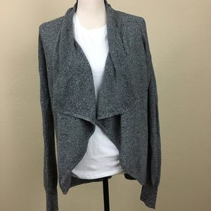 NWOT Express Grey Draped Cardigan Medium